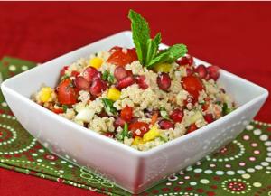 Receta ensalada de quinoa y granada
