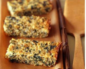Receta pastel de quinoa con espinacas