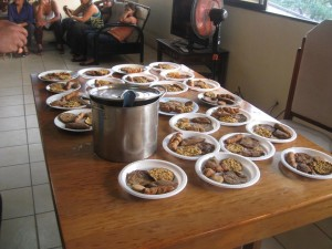 Nuez maya cocinada en COPADE Honduras