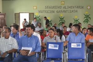 Beneficiarios presentes en presentación proyecto COPADE, CESAL y Fundación ETEA