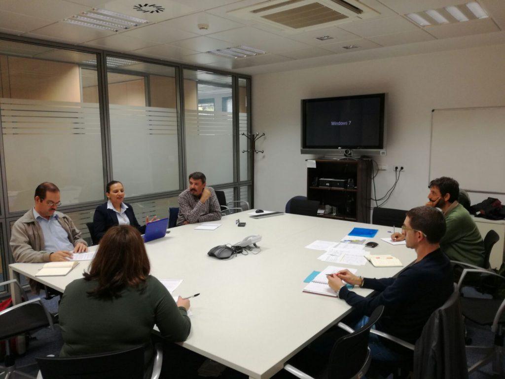 Visita del grupo a la sede de AECID.