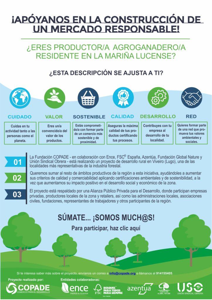 Folleto informativo proyecto de desarrollo rural en Viveiro