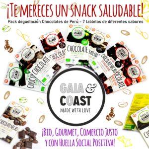 gama de chocolates de Comercio Justo Gaia & Coast