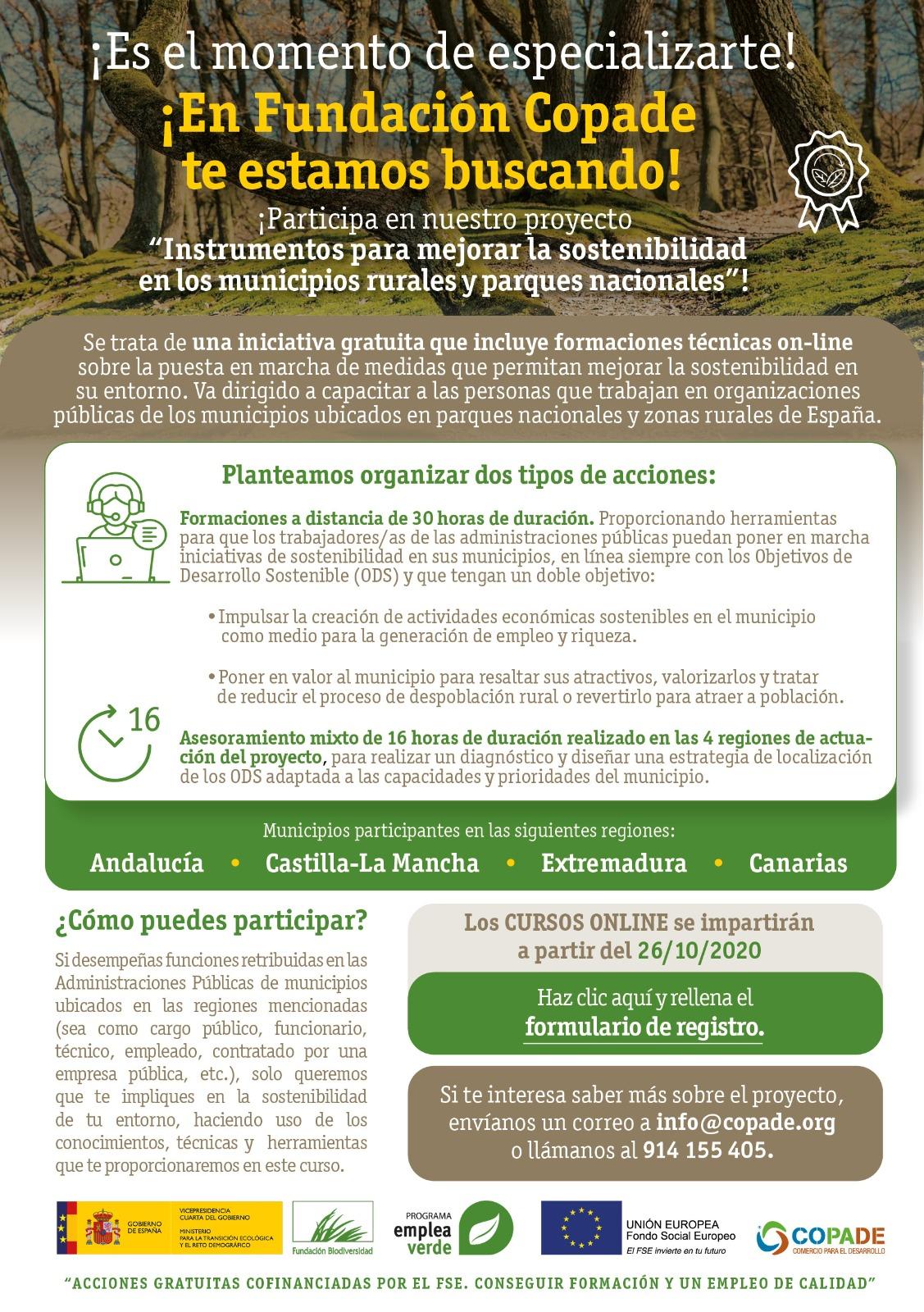 Sostenibilidad en los municipios rurales y parques nacionales