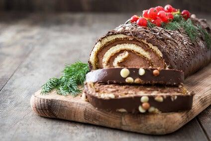 Receta para hacer el mejor tronco de Navidad con chocolate Gaia & Coast